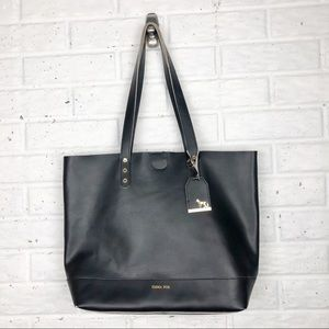 EMMA FOX Black Smooth Leather Tote